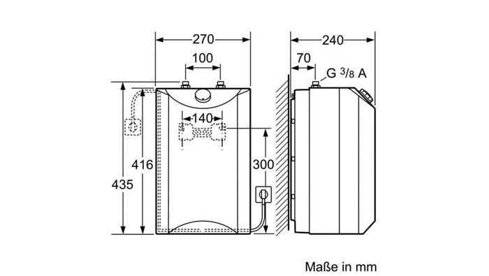 siemens bosch untertisch warmwasserspeicher 5 liter do0570c. Black Bedroom Furniture Sets. Home Design Ideas