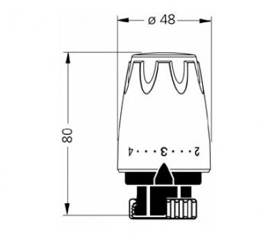 heimeier thermostatkopf dx. Black Bedroom Furniture Sets. Home Design Ideas