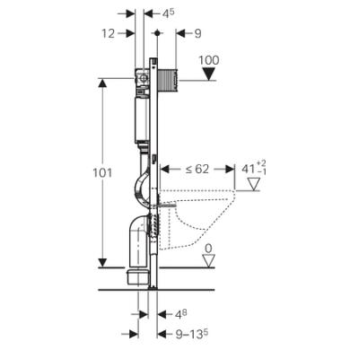 geberit duofix omega up sp lkasten bh 112cm. Black Bedroom Furniture Sets. Home Design Ideas