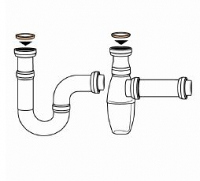 Universally level gasket 39 mm for siphon, Packaging unity: 5 pieces