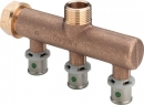 "Viega Sanfix Fosta Distributor 3-fold 16mm x 3/4 "", Model 2126.07"